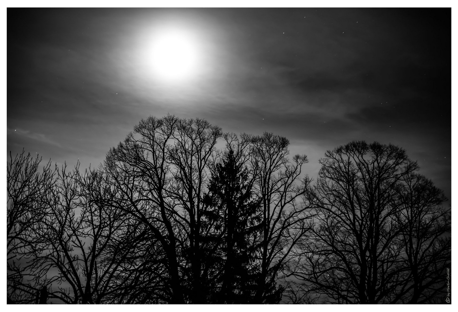 Mond im Winter