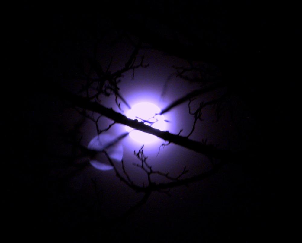 Mond in Blau