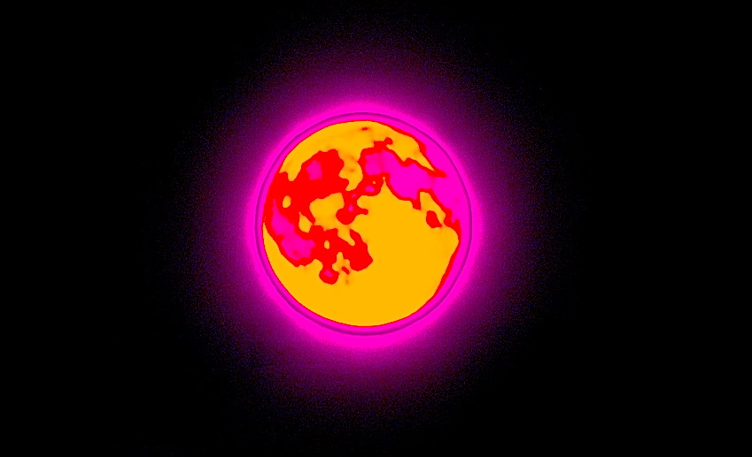 Mond in Infrarot