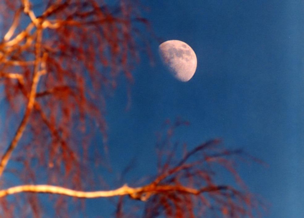 Mond in Spät-Nachmittagssonne