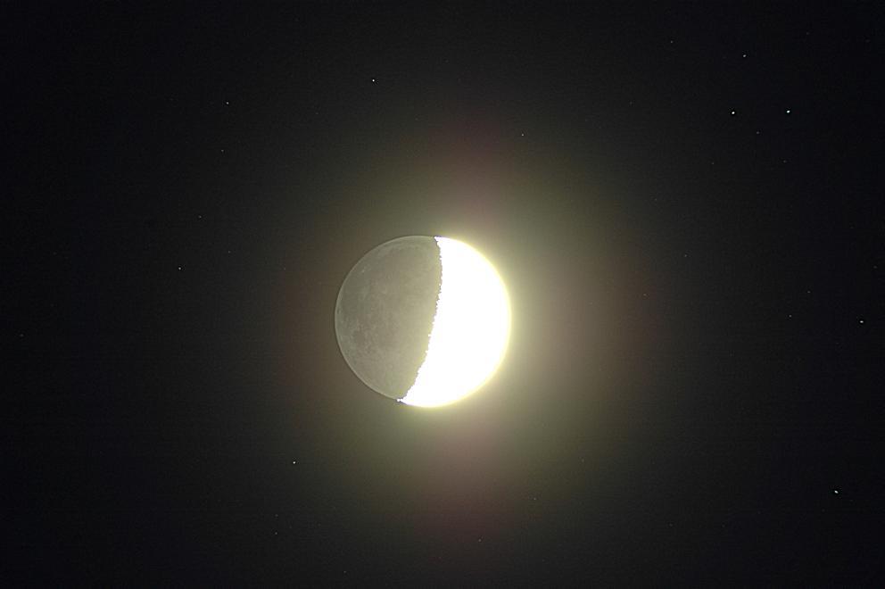 Mond mit Hintergrundsternen