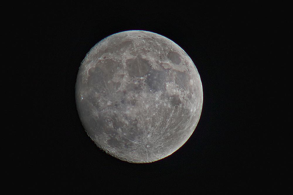 Mond mit Novoflexar 400 mm 5.6 Schnellschußobjektiv