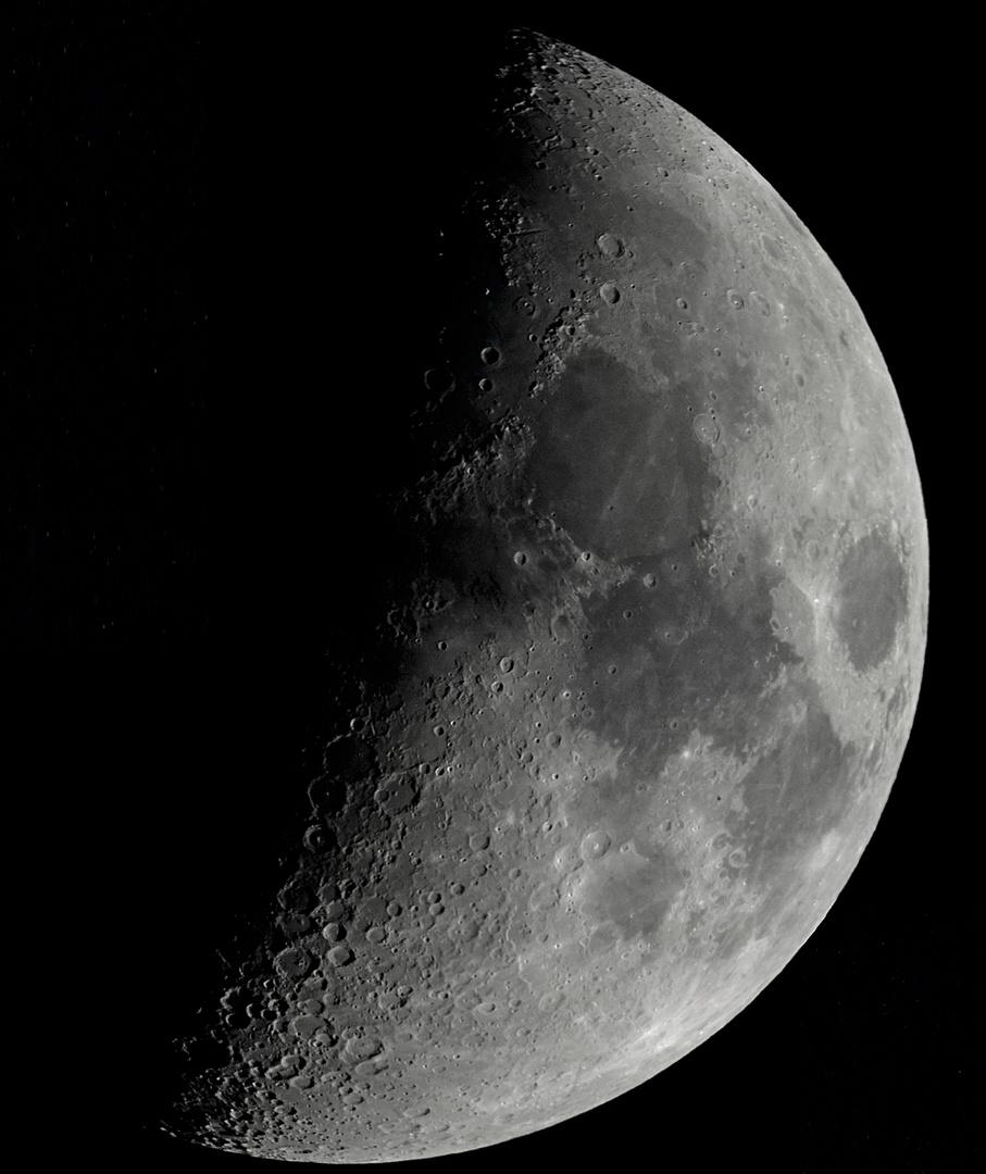 Mond Mosaik aus 3 Einzelaufnahmen