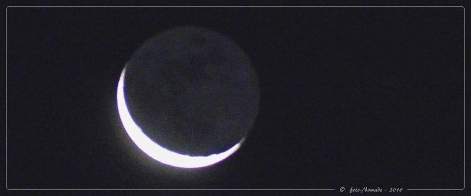 """Mond - """"Sichtbarkeit"""" in den Wolken 8 %"""