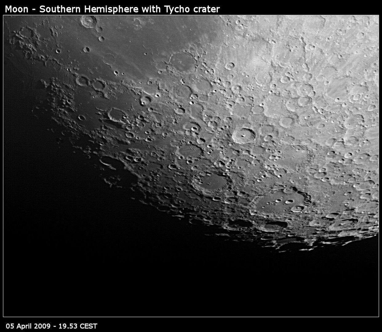 Mond - Südliche Hemisphäre um Tycho