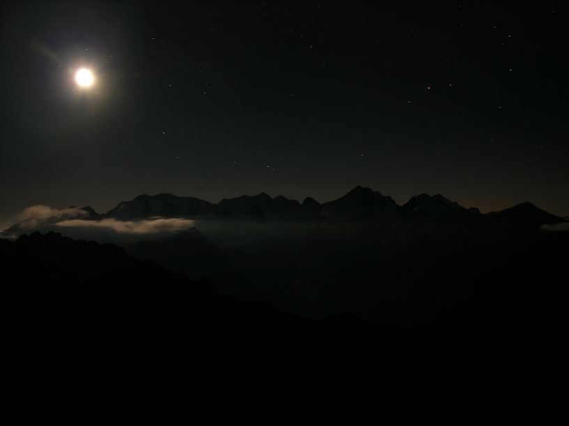 Mond über Bernina
