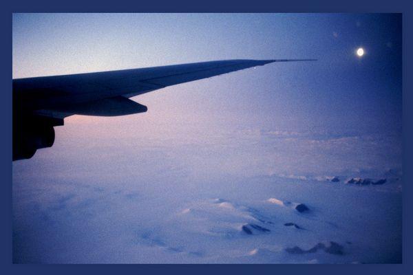 Mond über Grönland