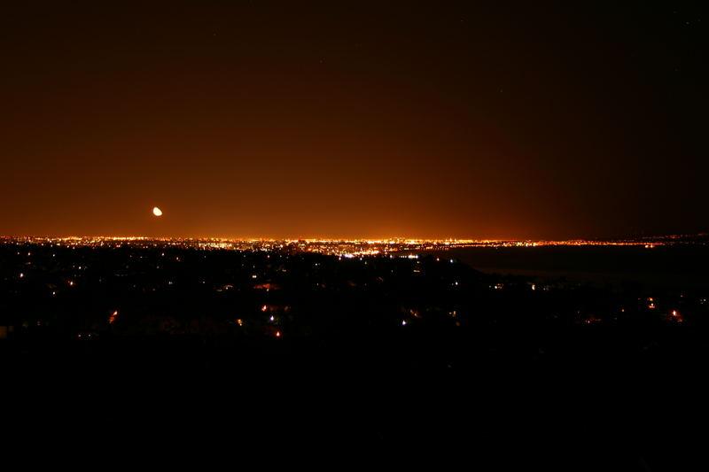 Mond über LA