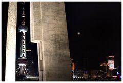 Mond über Shanghai ...