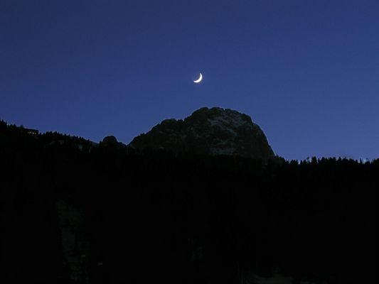 Mond über Wolkenstein