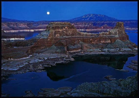 Mondaufgang am Alstrom Point, Lake Powell, Utah