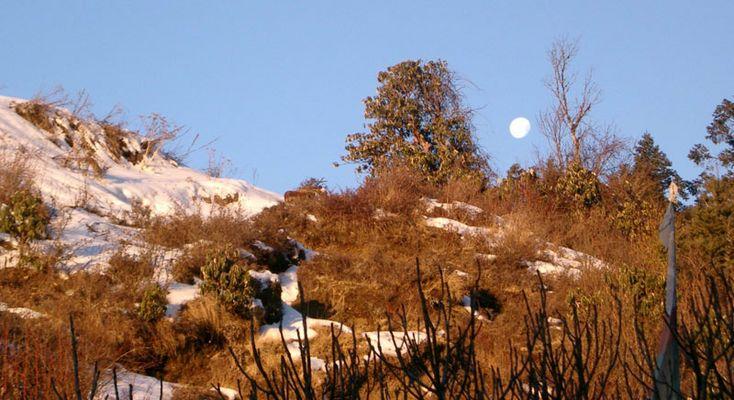 Mondaufgang am Dhaulagiri