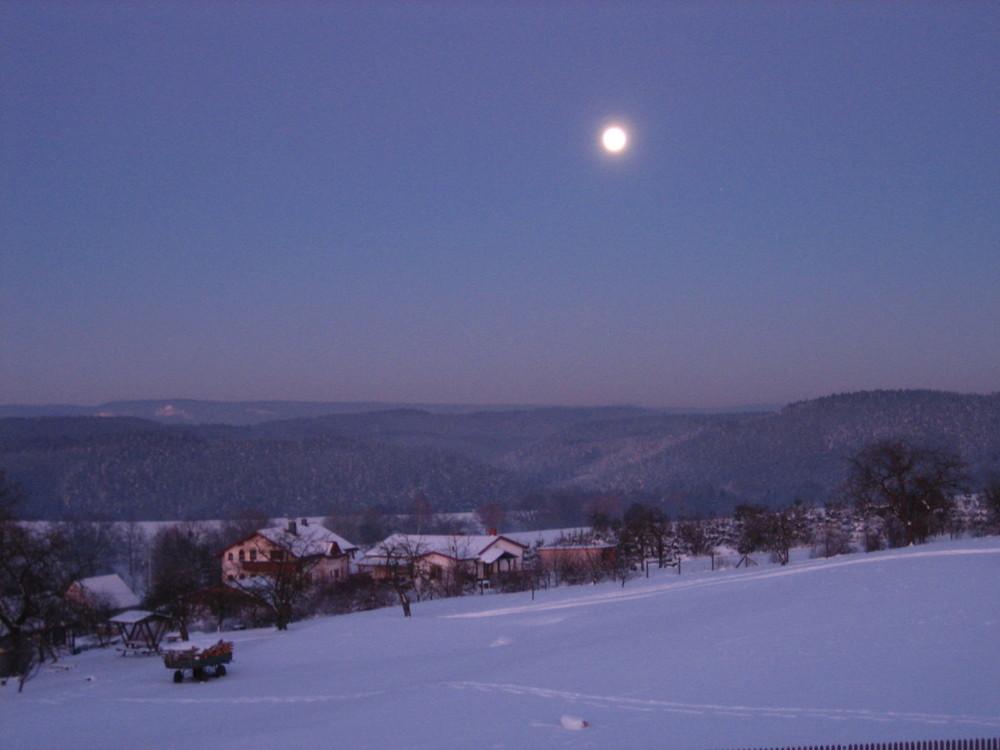 Mondaufgang gestern abend