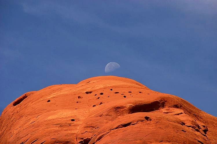 Mondaufgang im Monument Valley