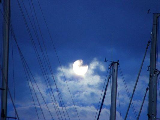 Mondaufgang in Skradin