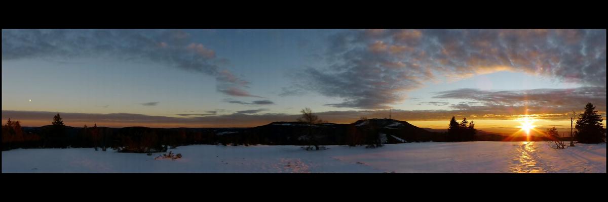 Mondaufgang - Sonnenuntergang Hochkopf