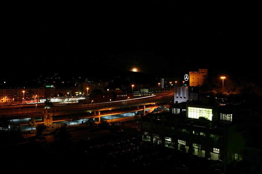 Mondaufgang über Koblenz