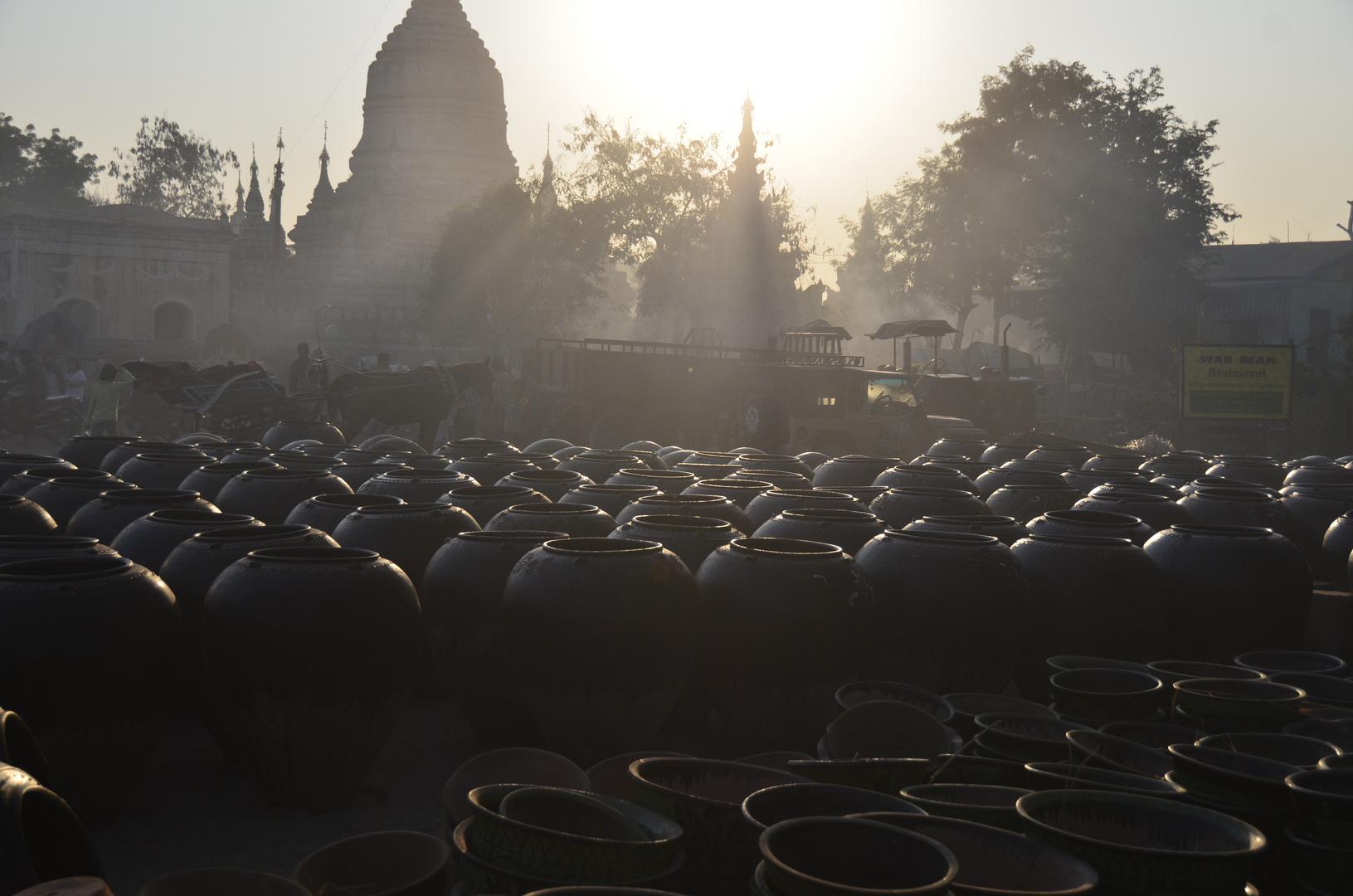 Mondfest mit jährlichem Markt in Bagan, Myanmar