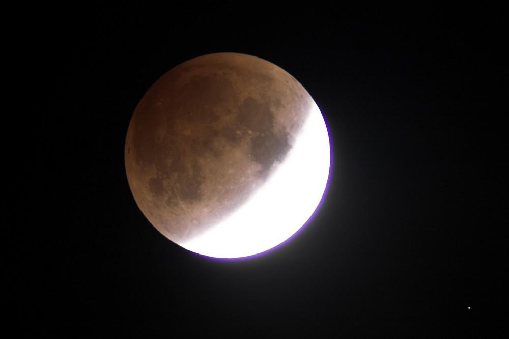 Mondfinsternis 21.02.08 in Schwülper, fortschreitende Totalität