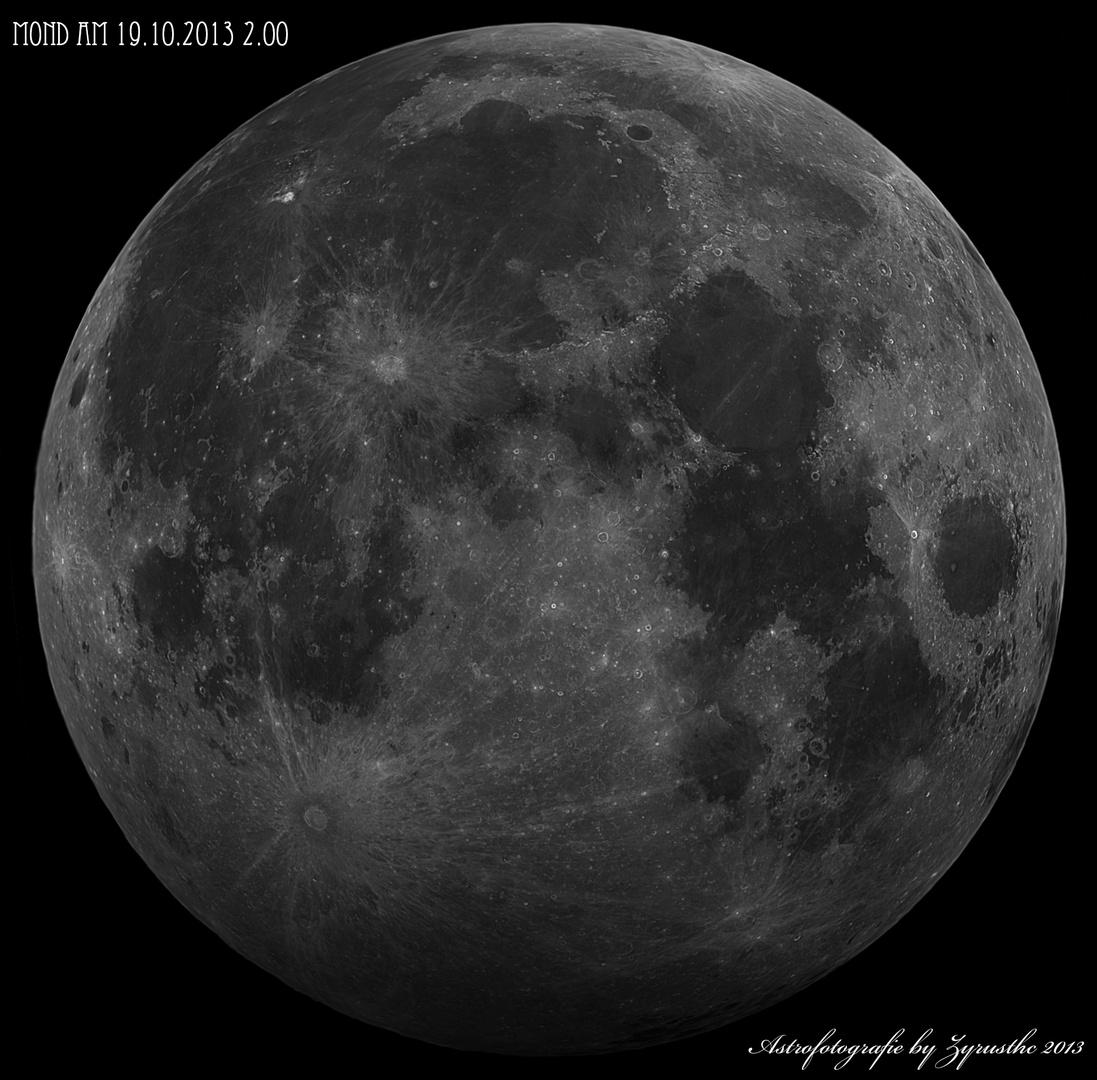 """Mondfinsternis """"Halbschattenfinsternis"""" am 19.10.2013"""