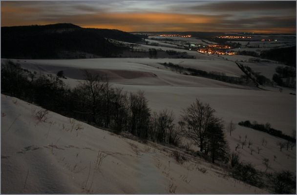 Mondhelle Winternacht