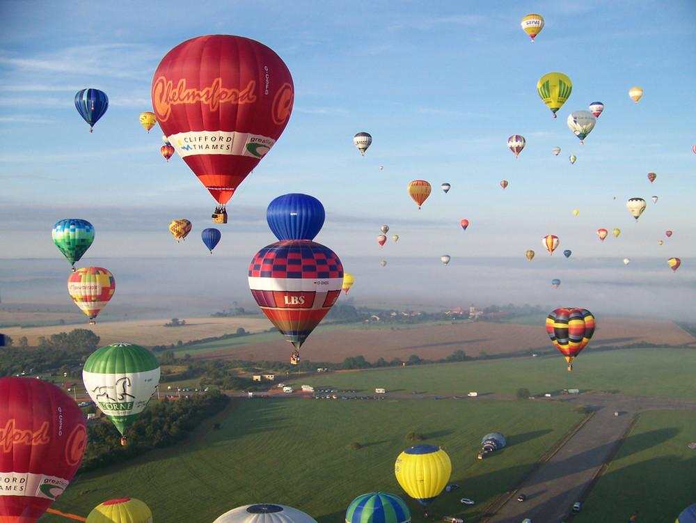 mondial air Ballon/ décollage