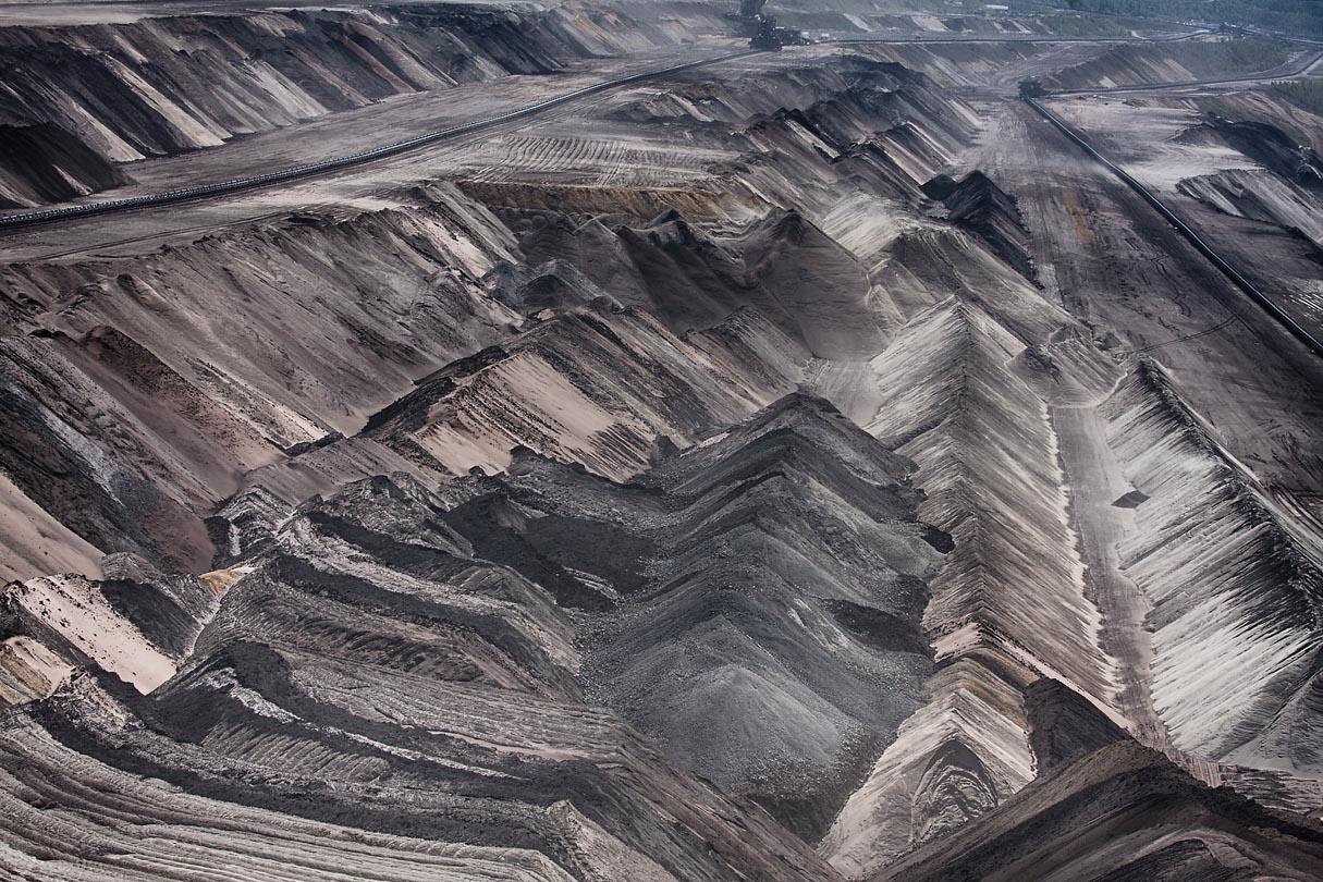 Mondlandschaft im Braunkohle Tagebau