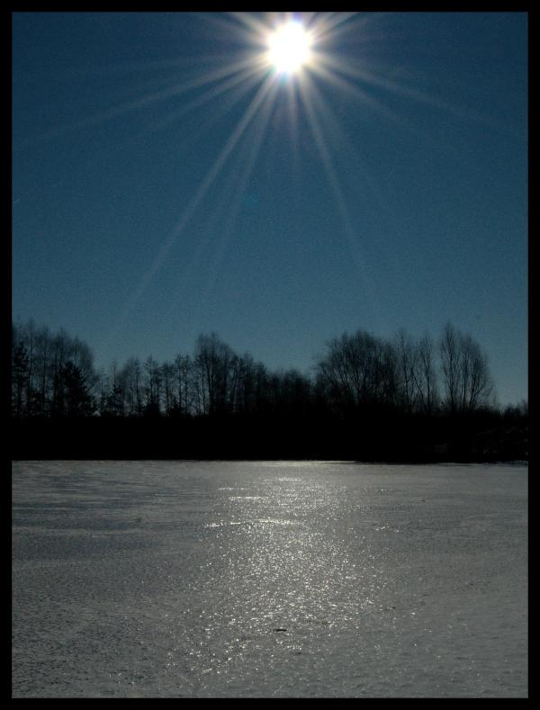 Mondlicht auf Eis