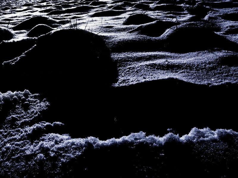 Mondlicht auf Schnee
