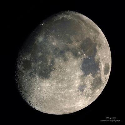 Mondmosaik in LRGB-Technik vom 28.12.2009