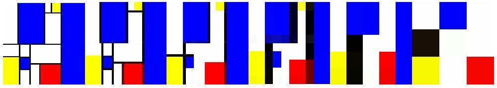 mondrian in pixel aufgelöst