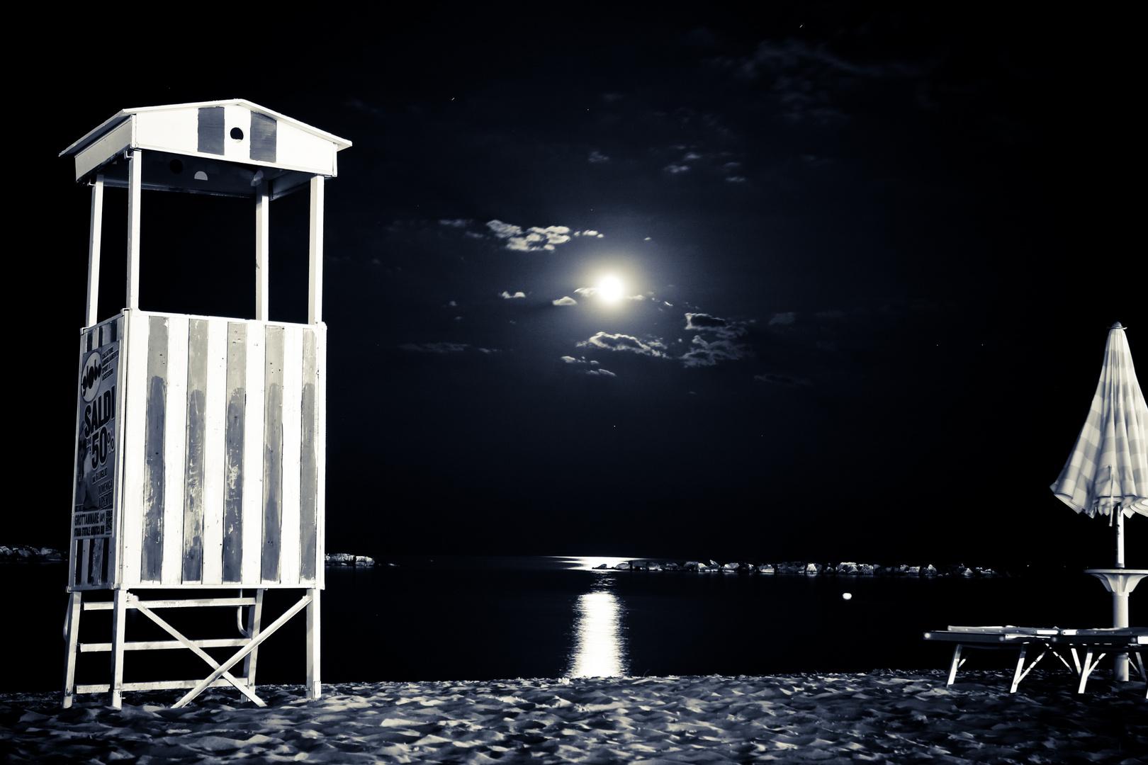 Mondschein am Strand