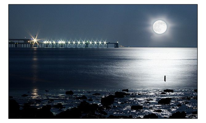 Mondschein an der Nordsee