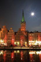 Mondschein über Lübeck