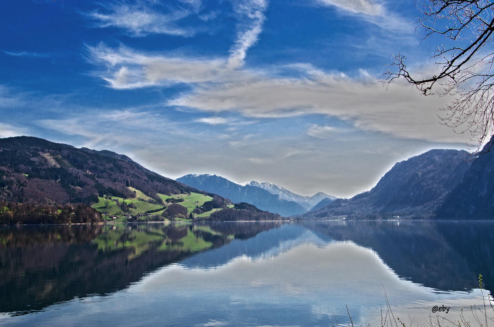 Mondsee (Spiegelung)