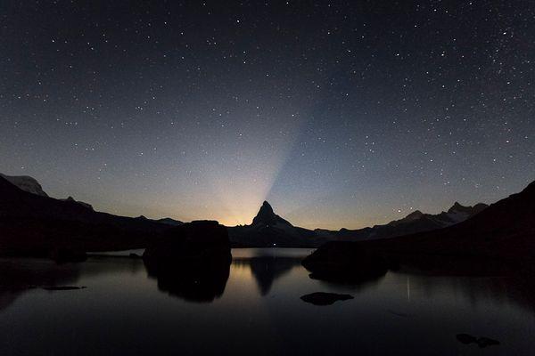 Monduntergang am Matterhorn