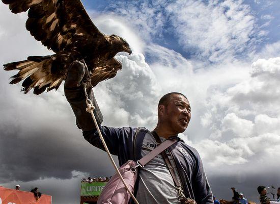 Mongolian hawker
