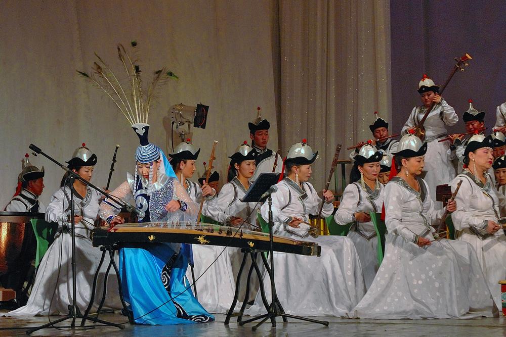 Mongolian Yatga player