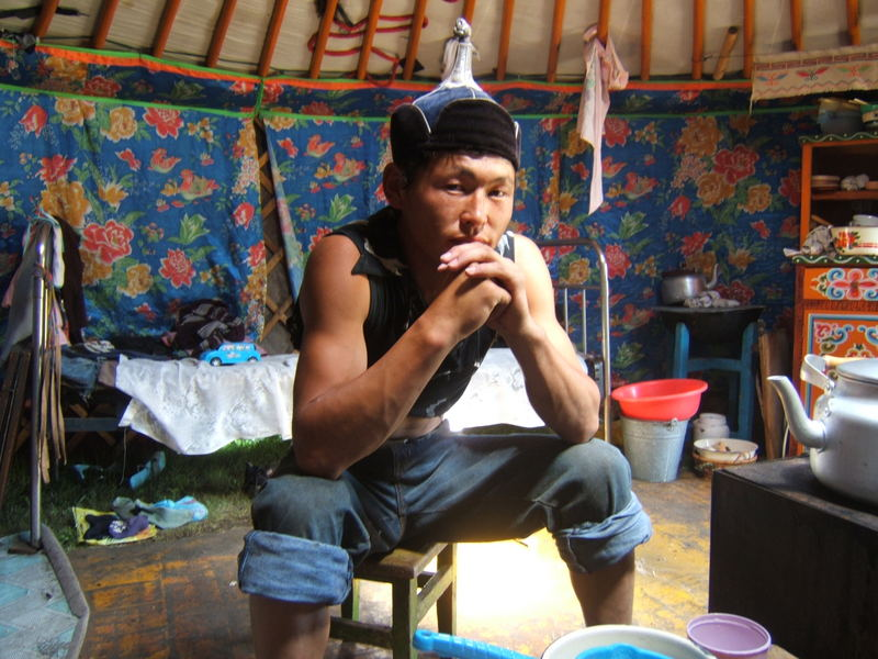 Mongolischer Nomadenjunge