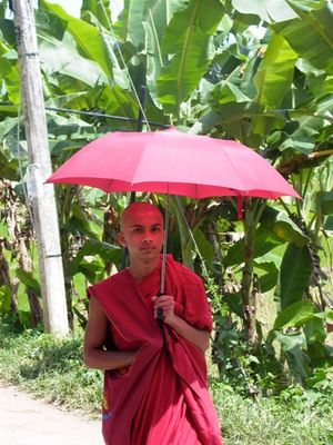 monk in red