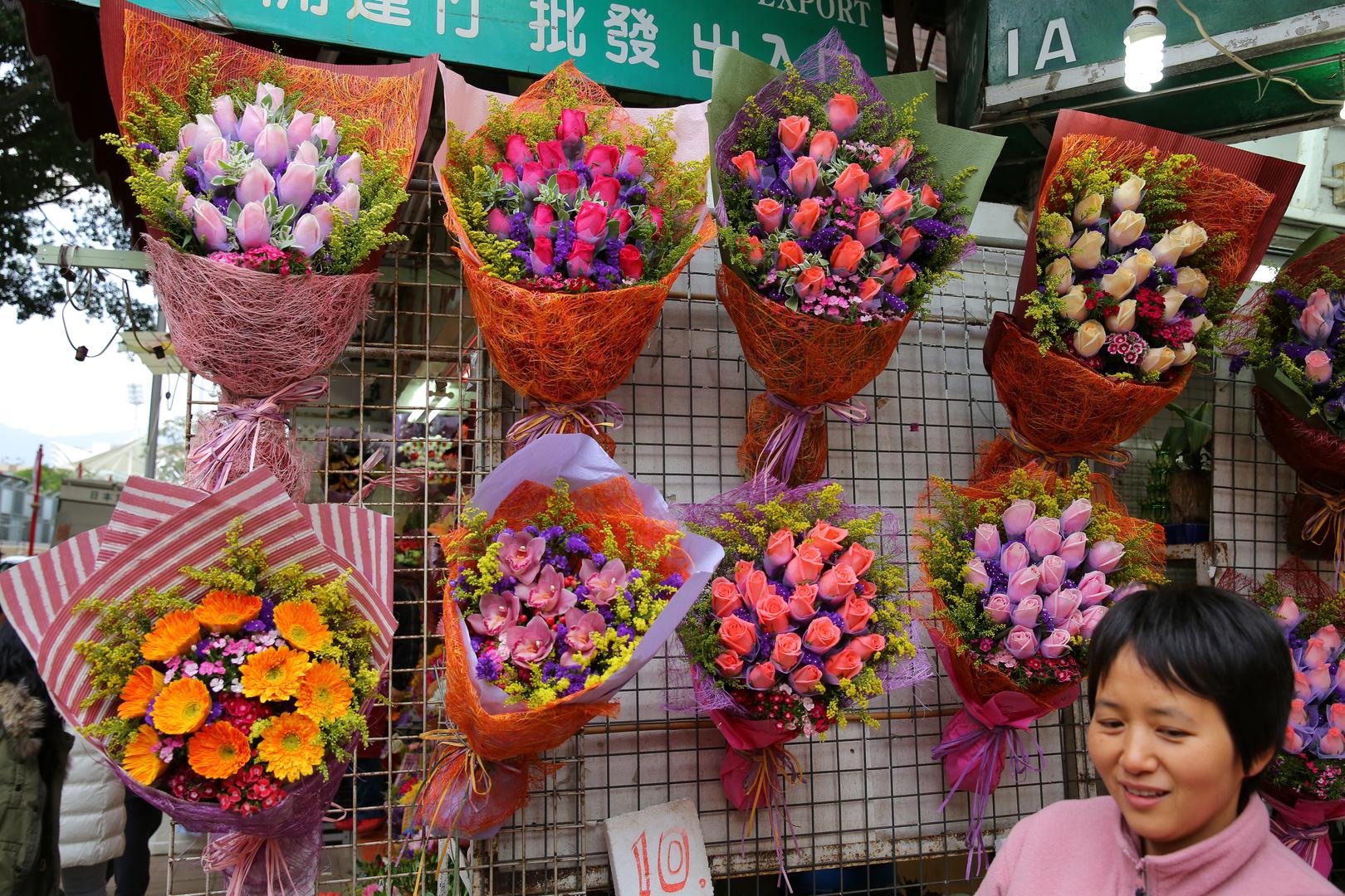 Monk Kok Blumenmarkt