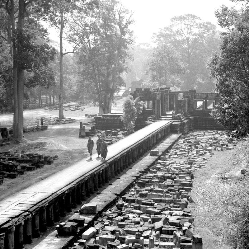 Monks on the Way at Baphuon/Angkor