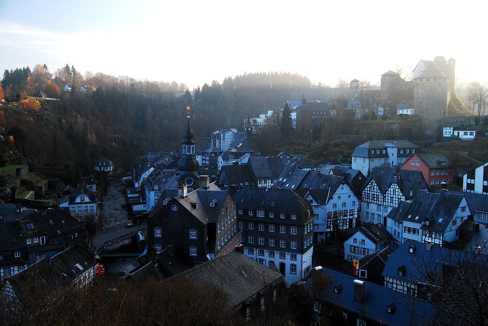 Monschau - Blick von der Haller-Ruine