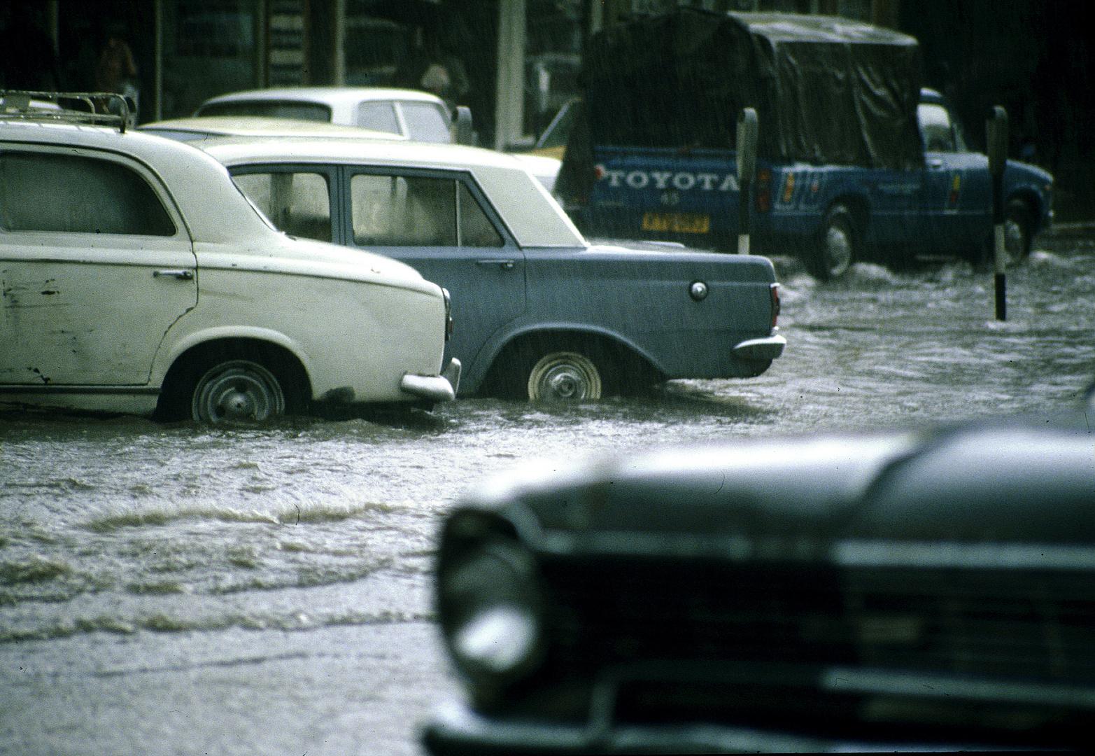 Monsunregen in Mombasa