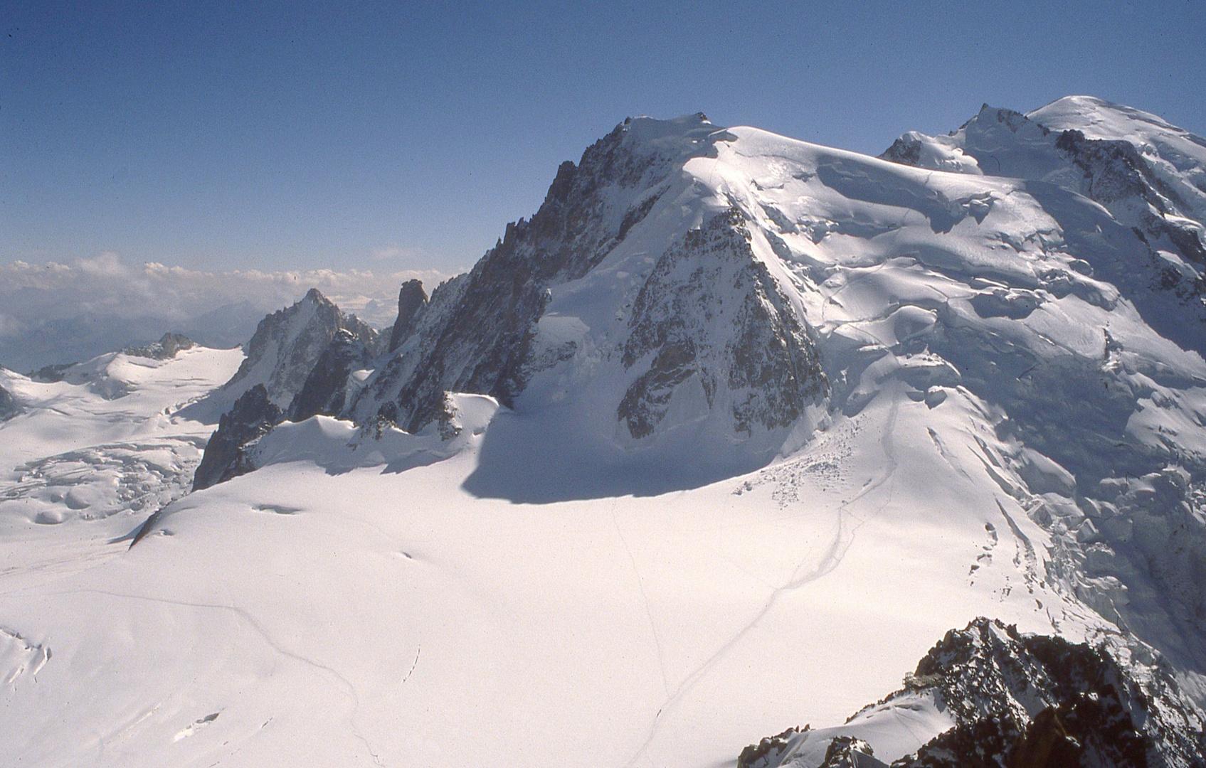 Mont Blanc 4810m , der höchste Berg der Alpen