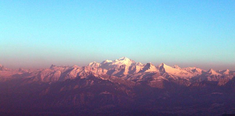 Mont Blanc Abendstimmung