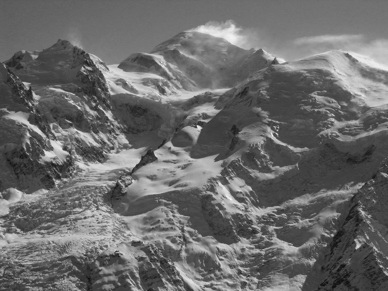 Mont-Blanc en n&b