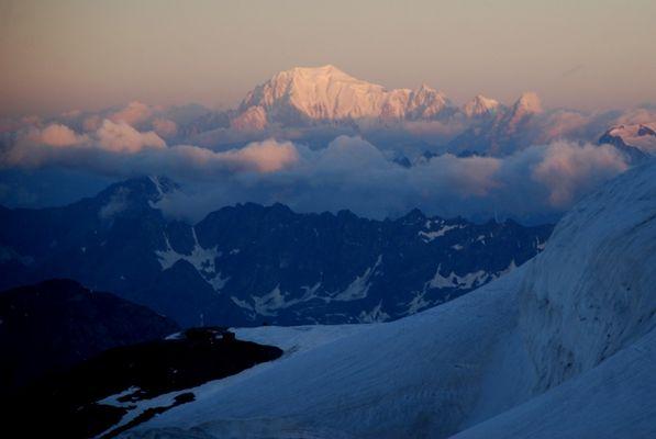 Mont Blanc im Morgenlicht