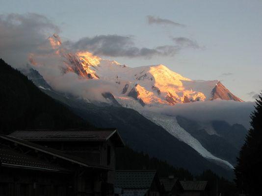 Mont Blanc im Sonnenuntergang
