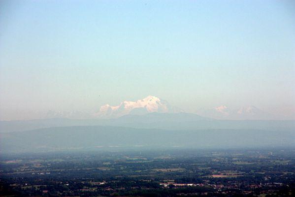 Mont Blanc vu du Beaujolais